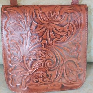 Patricia Nash cross body western leather purse